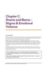 Chapter C: Shame and Blame – Stigma & Emotional Violence - ICRW
