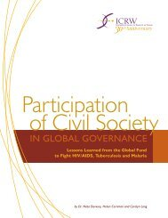Participation of Civil Society in Global Governance: Lessons ... - ICRW