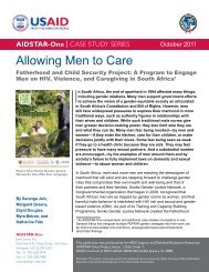 Download the Allowing Men to Care Case Study - AIDSTAR-One