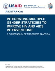 Implementing Multiple Gender Strategies to Improve HIV and ... - ICRW