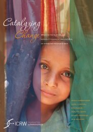 Catalyzing Change Improving Youth Sexual and ... - ICRW