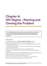 HIV Stigma – Naming and Owning the Problem - ICRW