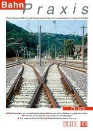 7/8 · 2013 - Eisenbahn-Unfallkasse