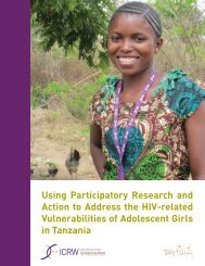 Using Participatory Research and Action to Address HIV ... - ICRW