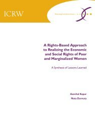 A Rights-Based Approach to Realizing the Economic and ... - ICRW