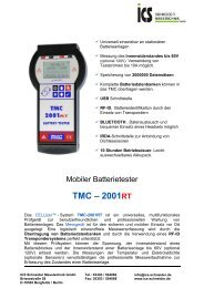 TMC – 2001RT - ICS Schneider Messtechnik GmbH