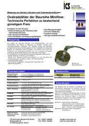 Technisches Datenblatt154.6 kB - ICS Schneider Messtechnik GmbH
