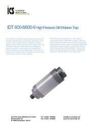 IDT 600-8/600-9 High Pressure Dirt Moisture Trap - ICS Schneider ...