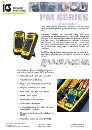 Pressure meters - ICS Schneider Messtechnik GmbH