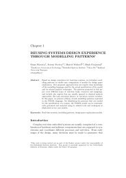 Chapter 1 REUSING SYSTEMS DESIGN EXPERIENCE THROUGH ...