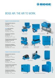 BOGE AIR. THE AIR TO WORK. - Boge Kompressoren
