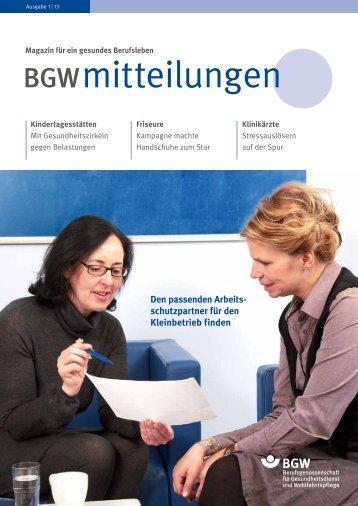 BGW mitteilungen Ausgabe 1/2013 herunterladen (PDF, 3MB)
