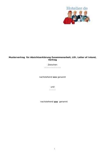 Mustervertrag Für Die Mietverwaltung Mietverwaltungsvertrag