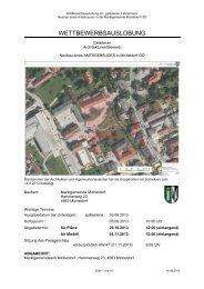 Ausschreibung (pdf, 2MB) - architekturwettbewerb