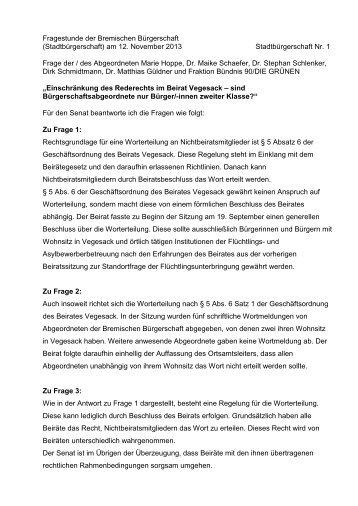 Mustervorlage in NORMAL-Grundeinstellung - Bremische ...