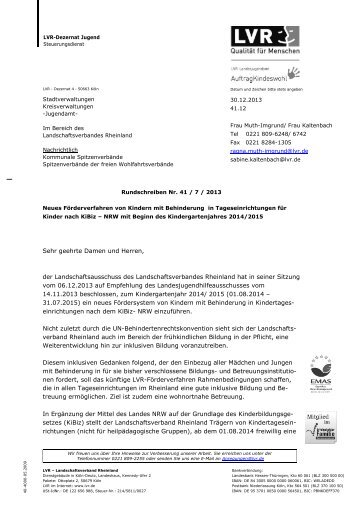 Rundschreiben Nr. 41 / 7 / 2013 (PDF, 2,3 MB)