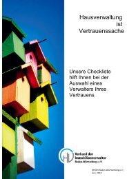 Checkliste - VdiV