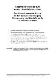 Muster-Ausbildungsvertrag (PDF) - Hochschule Anhalt