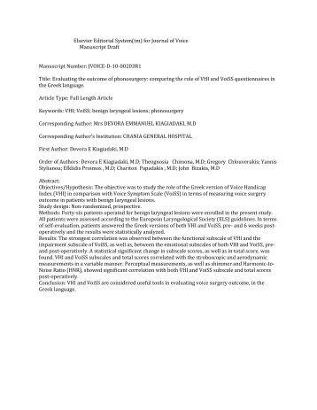 Elsevier Editorial System(tm) for Journal of Voice Manuscript ... - ICS