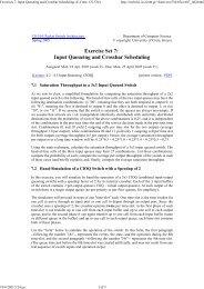 Exercises 7: Input Queueing and Crossbar Scheduling (U.Crete - ICS