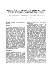 robust and efficient event detection for the monitoring of automated ...