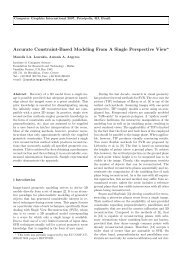 Accurate Constraint-Based Modeling From A Single Perspective View*