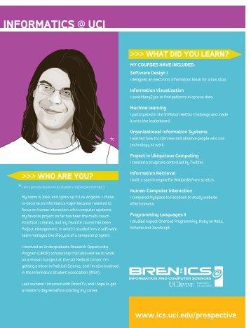 informatics @ uci - Donald Bren School of Information and Computer ...