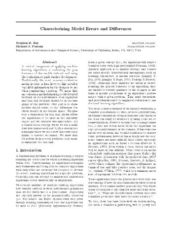 Characterizing Model Errors and Differences - CiteSeerX
