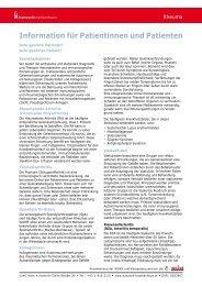 Rheuma - Patient/inneninformation