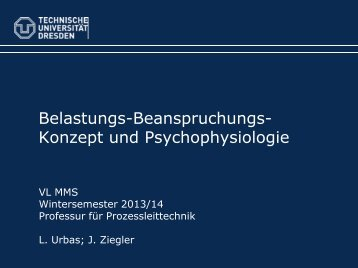 Human Factors 5: Psychophysiologie