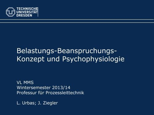Human Factors 5: Psychophysiologie