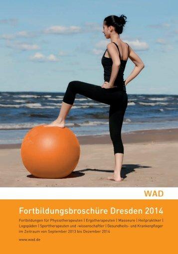 WAD Fortbildungsbroschüre Dresden 2014 - Weiterbildungsakademie