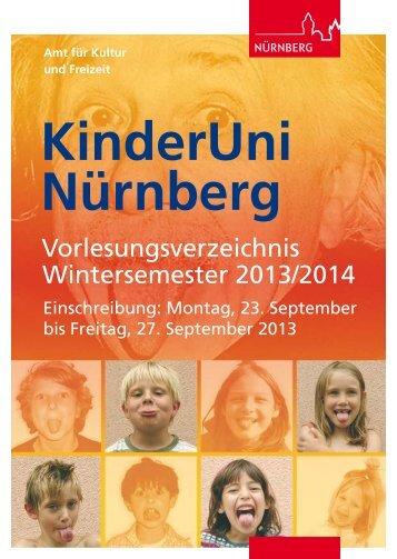 Programm Wintersemester 2013/2014 - Stadt Nürnberg