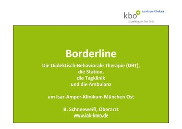 Borderline und DBT am 16.10.2013 - kbo-Isar-Amper-Klinikum ...