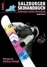 SALZBURGER SKIHANDBUCH 2009 - Förderer des Salzburger ...