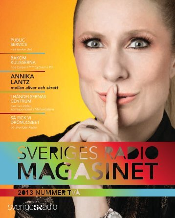 Sveriges Radio-magasinet nr 2 2013 (pdf)