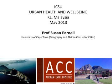 ICSU Urban Health and Wellbeing - African Perspectives