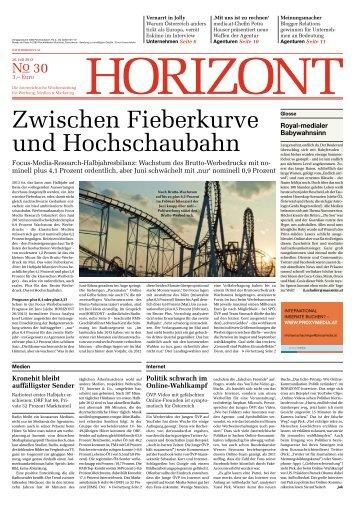 Zwischen Fieberkurve und Hochschaubahn - Horizont