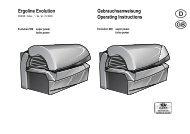 Ergoline Evolution Gebrauchsanweisung Operating Instructions