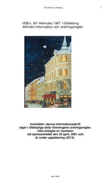 HSB:s Brf Herkules 1987 i Göteborg Allmän information och ...