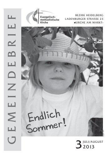 Gemeindebrief Juli-Aug 2013 - EmK
