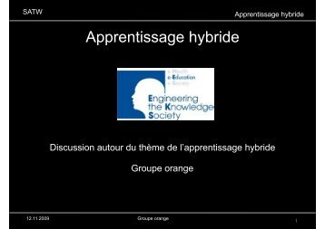 Apprentissage hybride