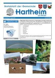 Gemeindeblatt 2013 KW34 - Gemeinde Hartheim