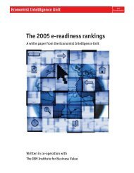 The 2005 e-readiness rankings - Economist Intelligence Unit