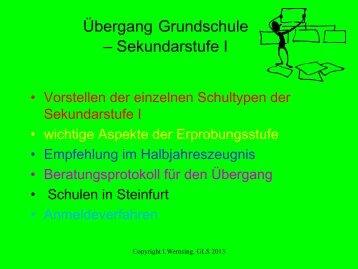 Wichtige Informationen zum Ãœbergang von der Grundschule zur ...