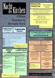 Offene Kirchen in Bremen-Nord - Heilige Familie Bremen-Grohn