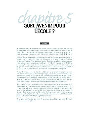 QUEL AVENIR POUR L'ÉCOLE ?