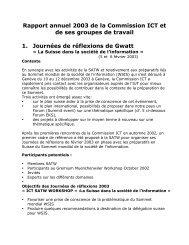 Rapport annuel 2003 de la Commission ICT et de ses groupes de ...