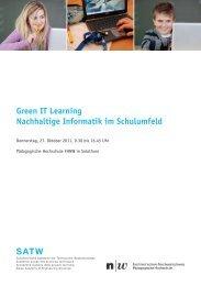 Green IT Learning Nachhaltige Informatik im Schulumfeld - SATW