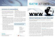 SATW ICT INFO - Short Information about the ICT 21 process